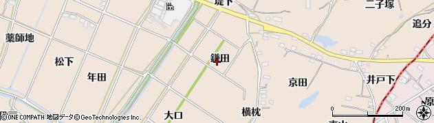 愛知県豊川市金沢町(鎌田)周辺の地図