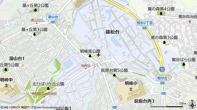 〒666-0134 兵庫県川西市萩原台西(3丁目283番以上)の地図