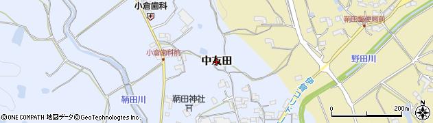 三重県伊賀市中友田周辺の地図