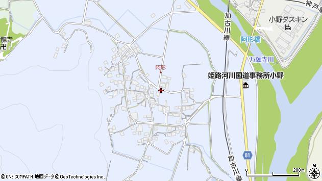 〒675-1342 兵庫県小野市阿形町の地図
