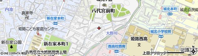 兵庫県姫路市八代宮前町周辺の地図