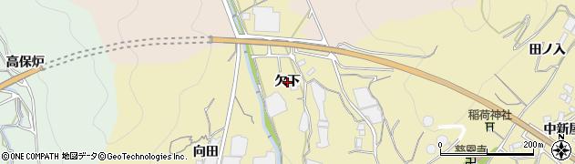 愛知県蒲郡市清田町(欠下)周辺の地図