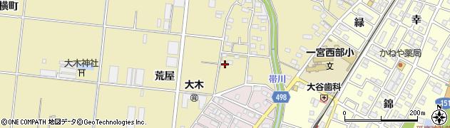 愛知県豊川市大木町(荒屋)周辺の地図