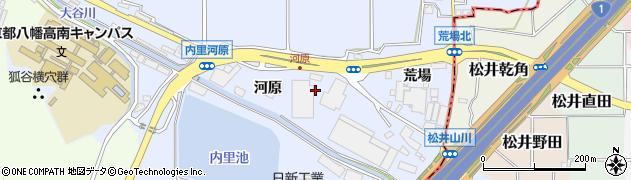 京都府八幡市内里(河原)周辺の地図