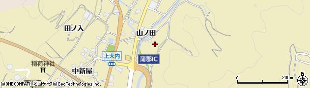 愛知県蒲郡市清田町(井戸ケ沢)周辺の地図