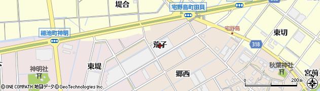 愛知県西尾市宅野島町(荒子)周辺の地図