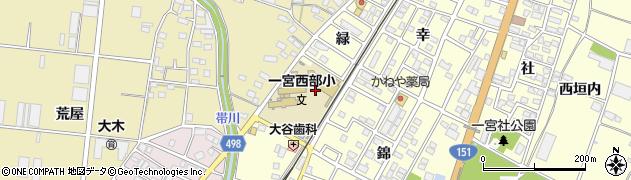 愛知県豊川市一宮町(緑)周辺の地図