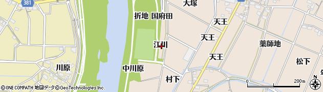 愛知県豊川市金沢町(江川)周辺の地図