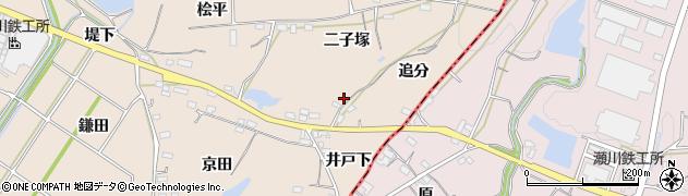 愛知県豊川市金沢町(追分)周辺の地図