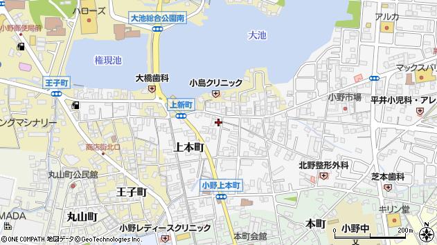 〒675-1379 兵庫県小野市上本町の地図