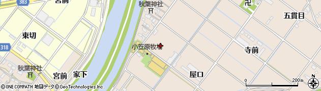愛知県西尾市花蔵寺町(西島南)周辺の地図
