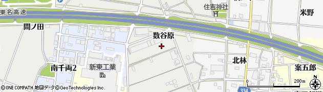 愛知県豊川市千両町(数谷原)周辺の地図