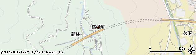愛知県蒲郡市神ノ郷町(高保炉)周辺の地図