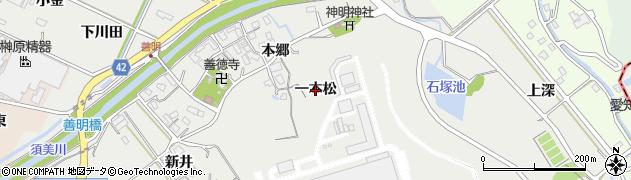 愛知県西尾市善明町(一本松)周辺の地図
