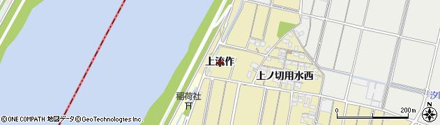 愛知県西尾市小栗町(上流作)周辺の地図