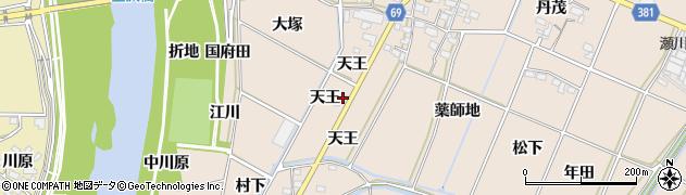 愛知県豊川市金沢町(粟地畑)周辺の地図