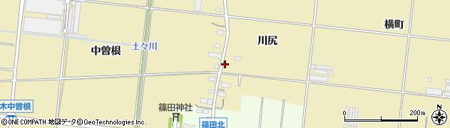 愛知県豊川市大木町(中曽根)周辺の地図
