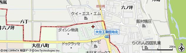 京都府京田辺市大住大峯周辺の地図