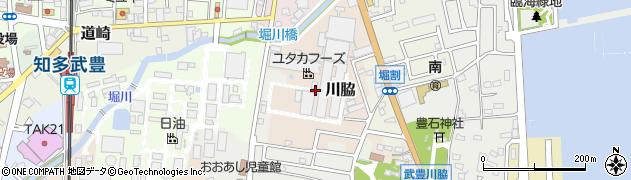 愛知県武豊町(知多郡)川脇周辺の地図