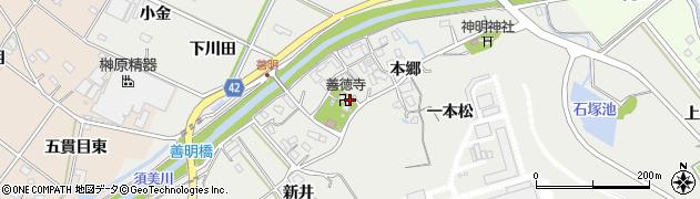 愛知県西尾市善明町周辺の地図