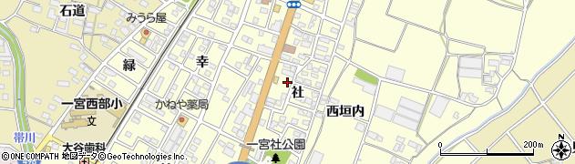 愛知県豊川市一宮町(社)周辺の地図