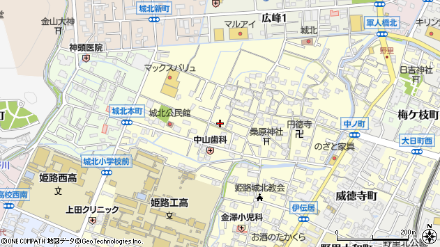 〒670-0871 兵庫県姫路市伊伝居の地図