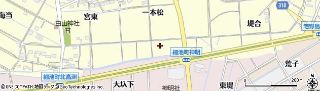 愛知県西尾市今川町(東新田)周辺の地図