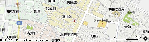 ほっともっと西尾富山町店周辺の地図