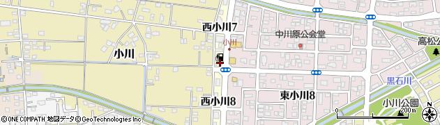 静岡県焼津市西小川周辺の地図