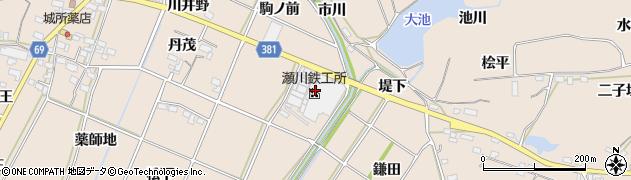 愛知県豊川市金沢町(櫛田)周辺の地図