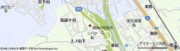 愛知県豊川市御油町(一町田)周辺の地図