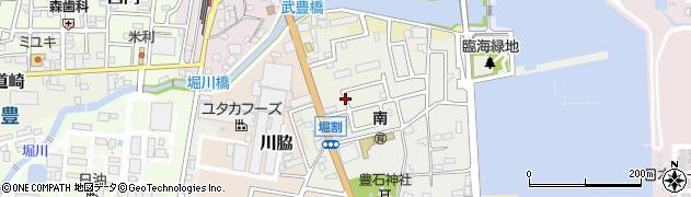 愛知県武豊町(知多郡)堀割周辺の地図