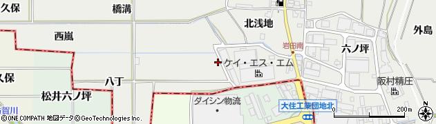 京都府八幡市岩田(南浅地)周辺の地図