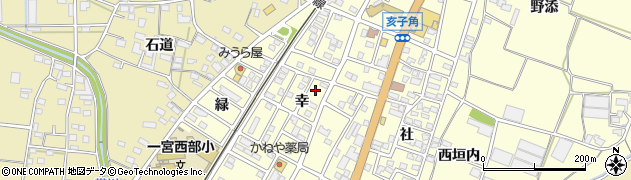 愛知県豊川市一宮町(幸)周辺の地図