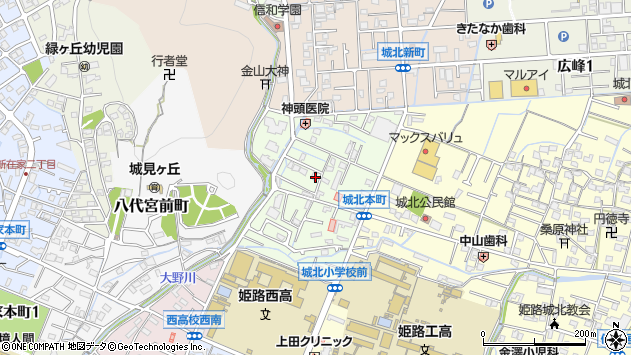 〒670-0884 兵庫県姫路市城北本町の地図
