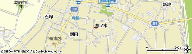 愛知県豊川市豊津町周辺の地図