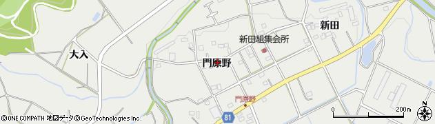 愛知県新城市富岡(門原野)周辺の地図