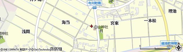 愛知県西尾市今川町(宮西)周辺の地図