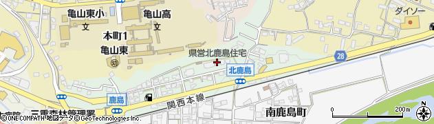 北鹿島住宅周辺の地図
