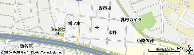 愛知県豊川市六角町周辺の地図
