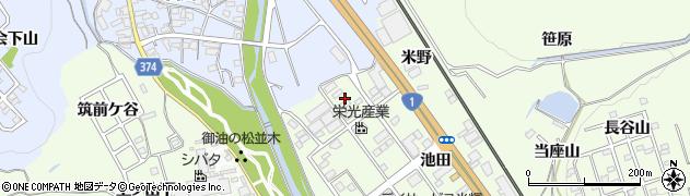 愛知県豊川市御油町(一重薮)周辺の地図