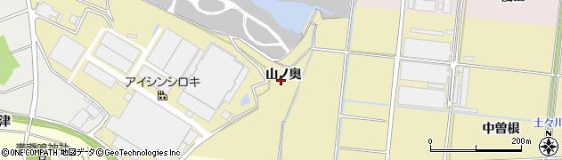 愛知県豊川市大木町(山ノ奥)周辺の地図