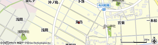 愛知県西尾市今川町(海当)周辺の地図