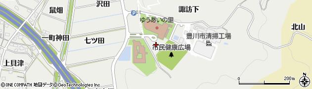 愛知県豊川市平尾町(親坂)周辺の地図
