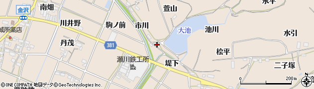 愛知県豊川市金沢町(池川)周辺の地図
