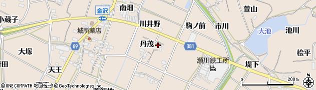 愛知県豊川市金沢町(丹茂)周辺の地図