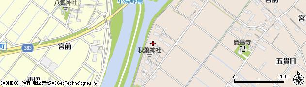 愛知県西尾市花蔵寺町(西島)周辺の地図