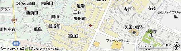 愛知県西尾市富山周辺の地図