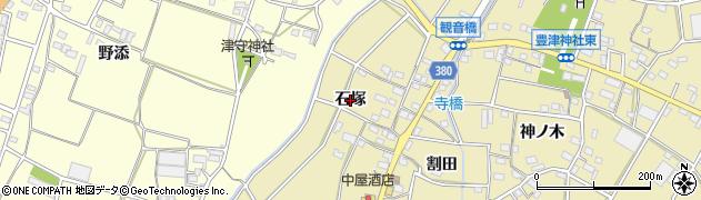 愛知県豊川市豊津町(石塚)周辺の地図