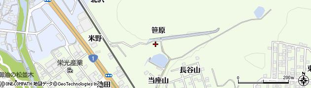 愛知県豊川市御油町(笹原)周辺の地図